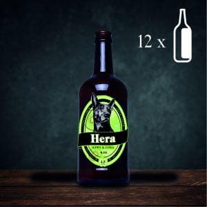 Pack de 12 botellas de sidra Hera Kiwi y lima